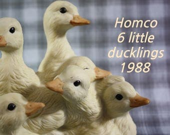 Homco 1988 Masterpiece Porcelain Baby Ducklings made in Mexico