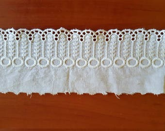 Vintage white cotton tape / braid /stripe for decorations