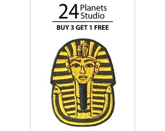 Tutankhamun's Mask Iron on Patch by 24PlanetsStudio