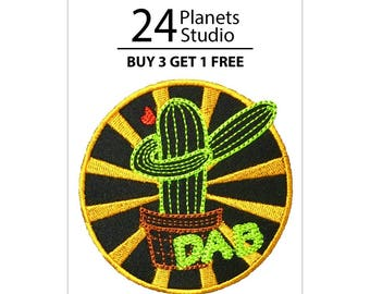 Cactus DAB Iron on Patch by 24PlanetsStudio