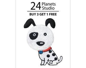 Dalmatian Dog Iron on Patch by 24PlanetsStudio