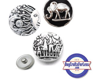 NeW SNAP METAL Buttons,, 3 New Snap Designs, 18mm CHaNGABLE +FREE Shipping & Discounts