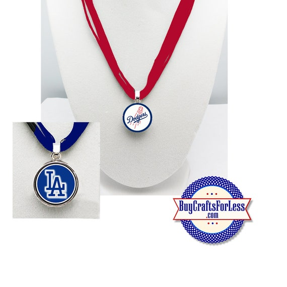 LOS ANGELES Baseball PENDaNT, CHooSE Design and Ribbon Cord - Super CUTE!  +FReE SHiPPiNG & Discounts*