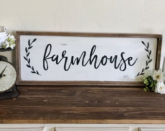 Large Farmhouse Sign | Farmhouse Decor | Fixer Upper Style | Living Room | Dining Room | Entryway