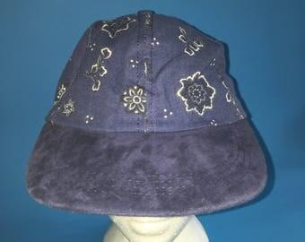 Vintage bandanna print strap back hat 1980 1990s