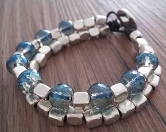Bracelets, bracelet Womens bracelets of zamak, style one of 50, close button, boho, boho jewelry, bracelet, leather bracelet