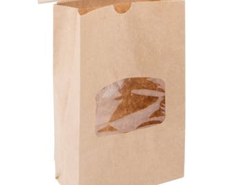 25 Ct 1 lb Brown Kraft Paper Cookie Bag, Kraft Paper Bag, Coffee Paper Bag, Coffee Bag, Kraft bag, Food Bag,  Kraft Paper Bag With Window