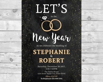 New years eve wedding invitation Etsy