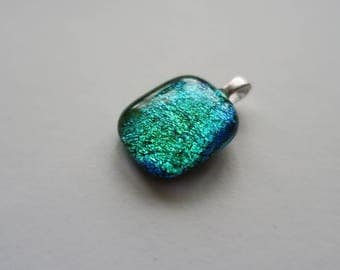 Green/ Blue Dichroic Glass Necklace