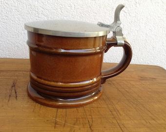 Goebel Tobago Beerstein with lid ceramic vintage 1960s West Germany WGP