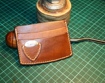 Guitar Pick Wallet Leather Handmade / Leather Wallet for Guitarist