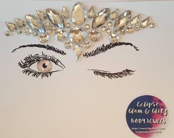 ECLIPSE PRINCESS CROWN body & face festival jewels