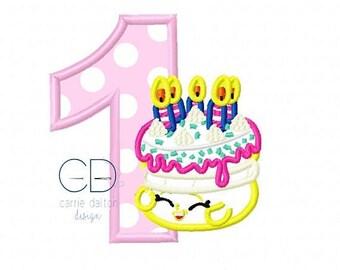 ON SALE Birthday Cake Embroidery Design, Birthday Cake Applique Design, Wishes Embroidery Design, First Birthday Embroidery Design