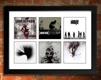 LINKIN PARK Albums Limited Edition Unframed A4 Art Print mini poster