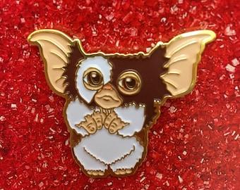 Gizmo Enamel Pin, Gremlins Lapel Pin, 80s Horror Film Hat Pin, Movie Nostalgia, Christmas Gift, Holiday Film Pin 1980s Magic