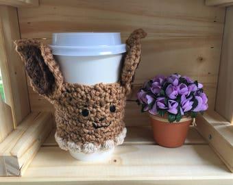 Eevee Coffee Cozy/Eevee Coffee Sleeve
