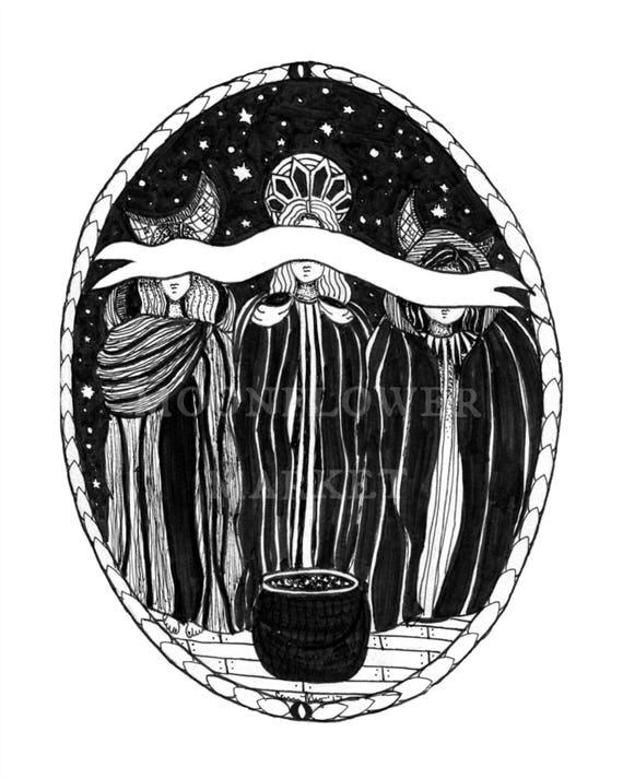 The Three Goddesses Print