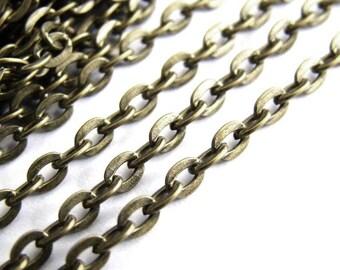 Bronze metal chain 1 meter