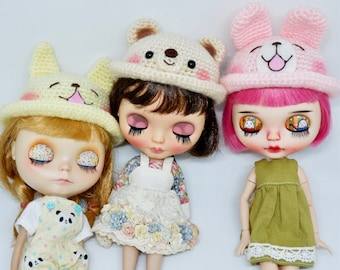 Little gang hat for Blythe ,Lati ,Mui and AMT