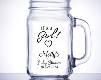 """Personalized Baby Shower Labels, Personalized Sticker Labels, Baby Shower Sticker, Mason Jar Labels 3"""" x 2"""" BB07"""