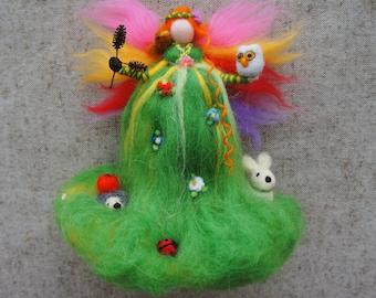 Animals Fairy, Fairy doll, Fairy ornament, Needle felted Fairy, Fairy felt, Waldorf dolls, Waldorf fairy