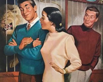 1947 Jantzen Sweaters-everybody looks so wonderful, smug and rich, too, in a Jantzen sweater