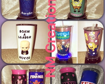 Sippy cup, 10 oz and 14 oz tumblers
