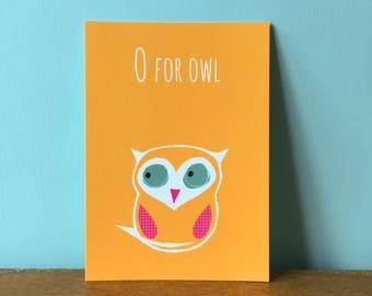 O For Owl Orange A6 card