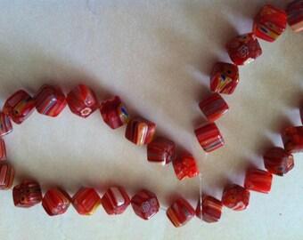 Square bead work