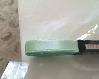Satin ribbon 1 cm in the coupon of 10 green water meter