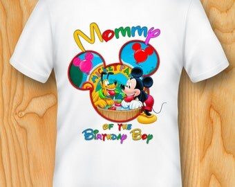 DIGITAL FILE, Mickey Mouse Mommy of the Birthday Boy Iron On Transfer, Mickey Mouse Iron On Transfer, Mickey Mouse t-shirt, Mickey shirt