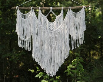 Large Macrame Wall Hanging // Macrame Hanging // Geometric Wall Hanging // Boho Wall Hanging // Wedding Decor // Home Decor // Ready To Ship