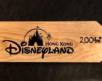 Custom sign to Disneyland Hong Kong