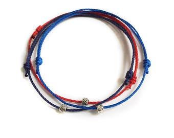 Mens Wax Cord Bracelet Set Adjustable Cord Bracelet Simple Jewelry Mens Jewelry Everyday Bracelet Slim Bracelet Skinny Waterproof Bracelet