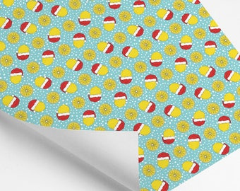 NEW!*** Holiday Lemon Pattern Wrapping Paper Sheets