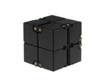 Infinity Cube EDC Fidget Toy - Made with Aerospace Grade T6 6061 Aluminum - Relieve Your Stress and Anxiety, Improve Your Concentration