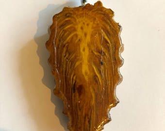 Pinecone pendant necklace