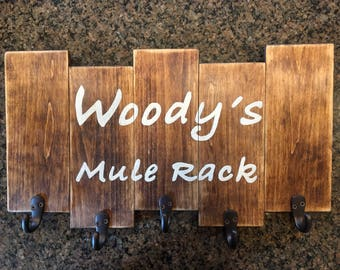Customized Mug Racks...choose what you'd like it to say and the colors!  I'll work with you to figure out just what you're looking for!