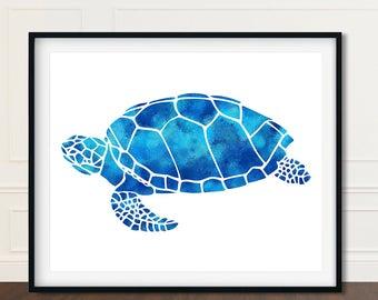 Watercolor Sea Turtle, Sea Turtle Print, Sea Turtle Decor, Gift for Her, Sea Turtle Artwork, Seaturtle Print, Sea Turtle Art, Sea Turtle