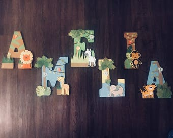 Safari themed Letters