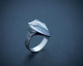 Dragon Tooth sterling silver ring