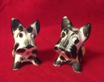 Vintage Made in Japan Scottie Dog Salt and Pepper Shakers