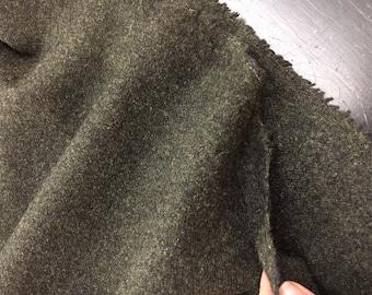 Green WOOL Fabric by the Yard Green TWEED Fabric Coat Fabric