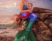 Breastfeeding Mermaid Portrait, Personalized Mermaid, Photo Editing Service, Nursing Mermaid, Custom Edit, Mermaid, Mother's Day, Commission
