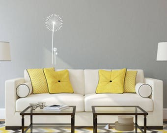 Dandelion with Flowers Home and Family Vinyl Wall Decal