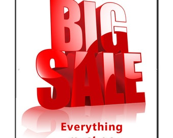 Big Sale Banner with Grommets
