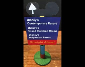 handmade Disney inspired road sign Disney's Contemporary , Grand Floridian & Polynesian Resorts