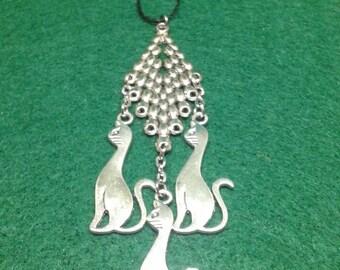 Three cats christmas ornament