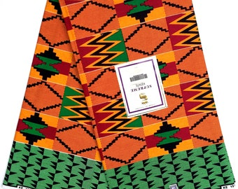 SUPREME KINTE Kente HOLLAND Wax fabric African print 6 Yards 100% cotton made in Holland Original