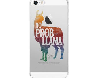 No Prob-Llama iPhone Case Iphone 5 6 7 8 X